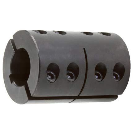Wellenkupplung 2-teilig Stahl C45 - mit Nut