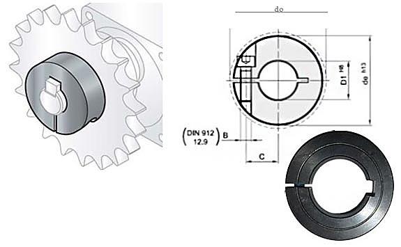 Klemmringe Stahl C45 -geschlitzt – mit Keilnut