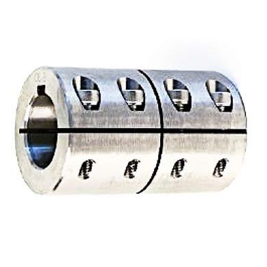 Wellenkupplung 1-teilig Stahl C45 -geschlitzt mit NutWellenkupplung 1-teilig Stahl … Wellenkupplung 1-teilig Stahl V2A