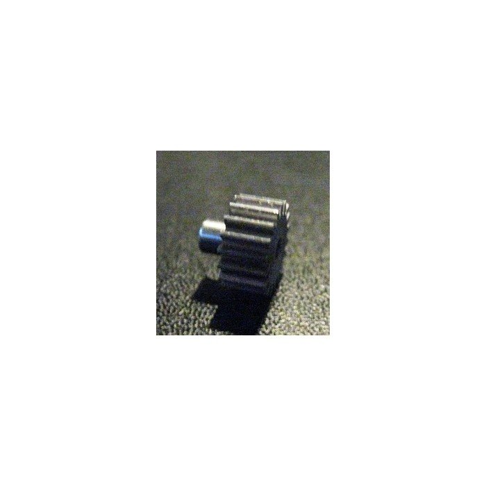 Zahnrad 16Z mit Bund Stahl - gerade verzahnt Modul 0.5