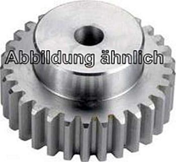 Zahnrad 40Z mit Nabe -Stahl - gerade verzahnt Modul 1.0