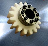 Clamping set, gear shop, hub-shaft