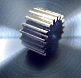 Spur gear, motor pinion, milled steel C45,